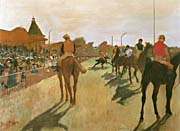 Edgar Degas Racehorses Before the Stands