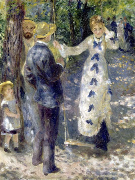 Pierre Auguste Renoir The Swing stretched canvas art print