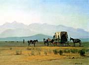 Albert Bierstadt Surveyors Wagon In The Rockies canvas prints