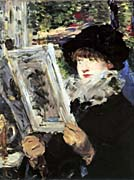 Edouard Manet The Reader canvas prints