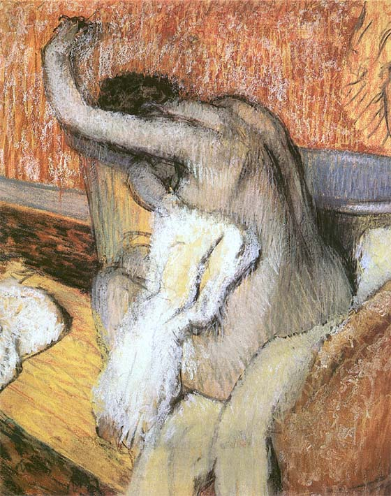 Edgar Degas After the Bath, Woman Drying Herself stretched canvas art print