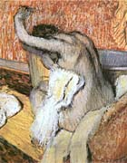 Edgar Degas After The Bath Woman Drying Herself canvas prints