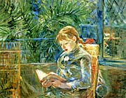 Berthe Morisot Little Girl Reading