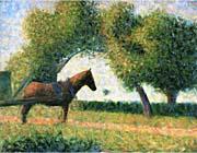 Georges Seurat Horse canvas prints