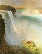 Frederic Edwin Church Niagara Falls, from the American Side