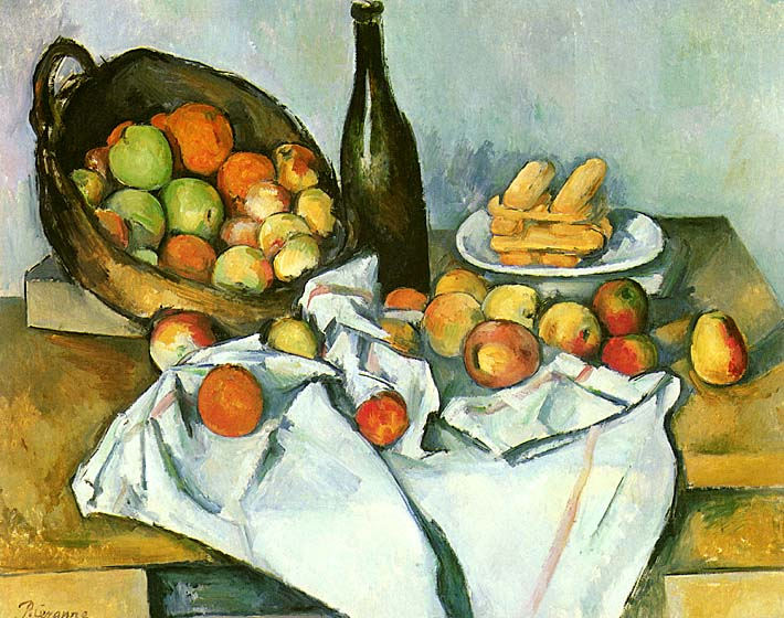 Paul Cezanne Basket of Apples stretched canvas art print