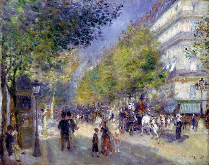 Pierre Auguste Renoir The Great Boulevards stretched canvas art print