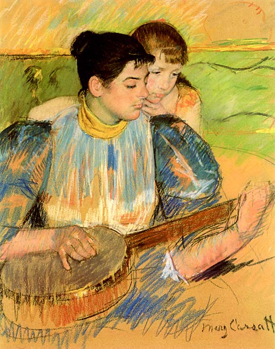 Mary Cassatt The Banjo Lesson stretched canvas art print