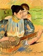 Mary Cassatt The Banjo Lesson canvas prints