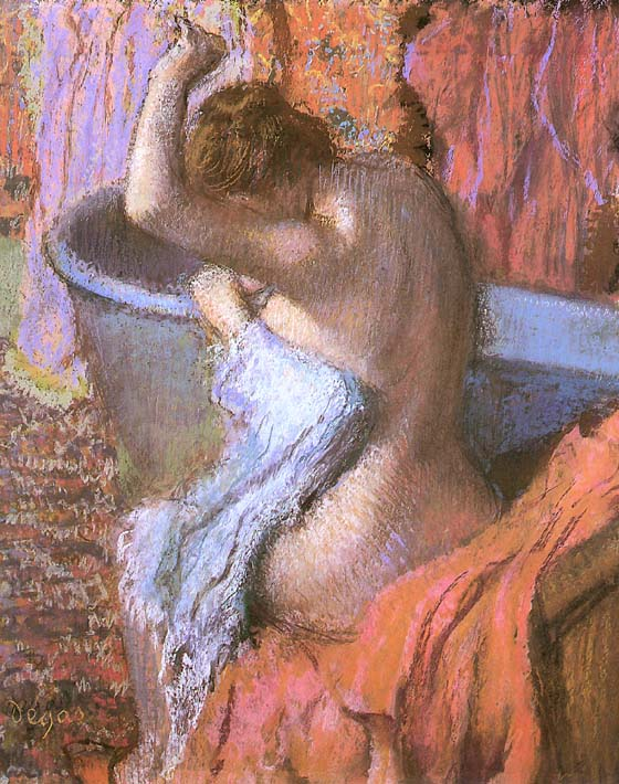 Edgar Degas Seated Bather Drying Herself stretched canvas art print