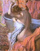 Edgar Degas Seated Bather Drying Herself