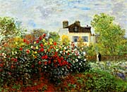 Claude Monet Monets Garden At Argenteuil canvas prints