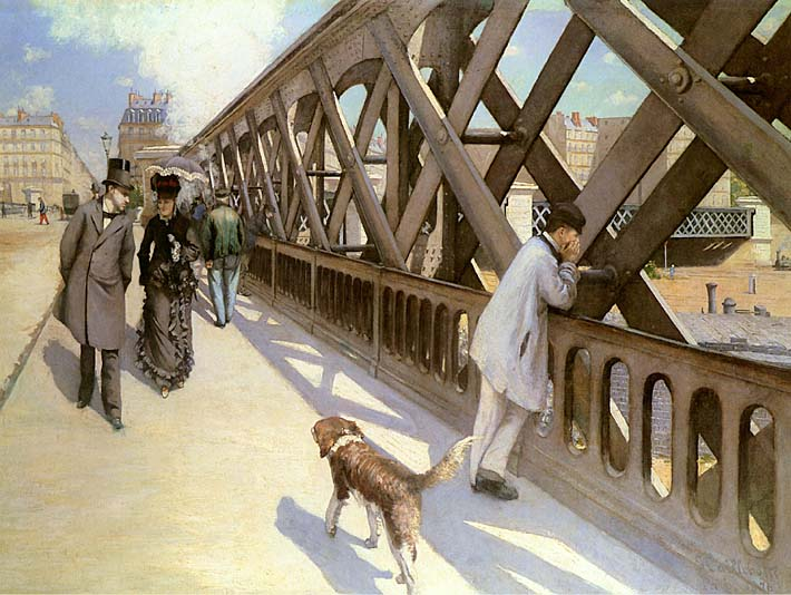 Gustave Caillebotte Le pont de l'Europe stretched canvas art print