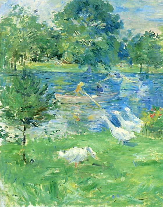 Berthe Morisot View of the Bois de Boulogne stretched canvas art print