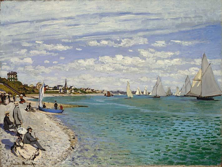 Claude Monet Regatta at Sainte-Adresse stretched canvas art print