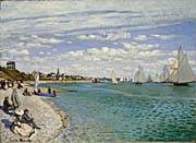 Claude Monet Regatta at Sainte-Adresse
