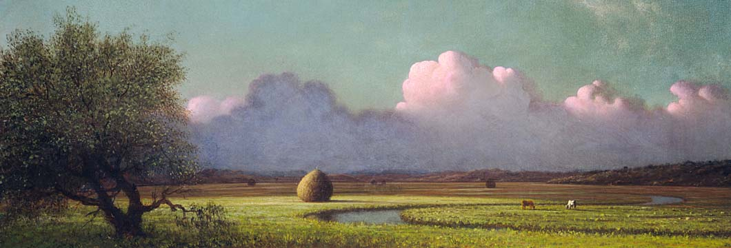 Martin Johnson Heade Sunlight and Shadow, The Newbury Marshes (Panoramic View) stretched canvas art print