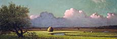 Martin Johnson Heade Sunlight and Shadow, The Newbury Marshes (Panoramic View)