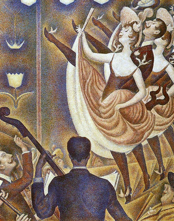 Georges Seurat Le Chahut stretched canvas art print
