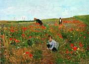 Mary Cassatt Poppies In A Field canvas prints