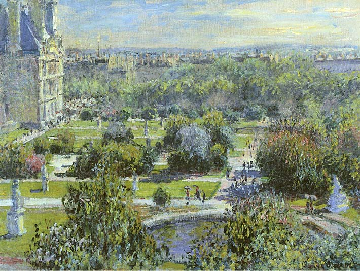 Claude Monet The Tuileries stretched canvas art print