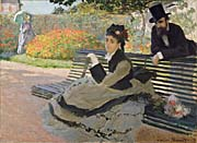 Claude Monet Camille Monet on a Garden Bench