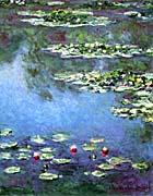 Water Lilies 1906 (portrait detail) Canvas Prints