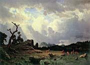 Albert Bierstadt Thunderstorm In The Rocky Mountains canvas prints
