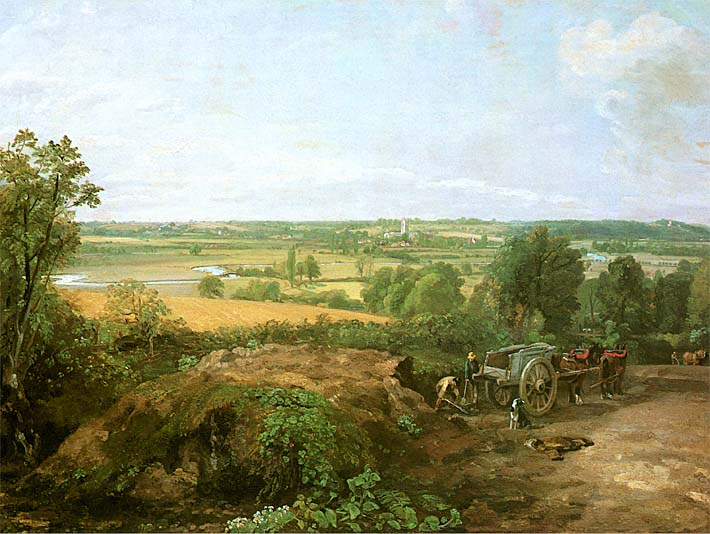 John Constable View of Dedham stretched canvas art print