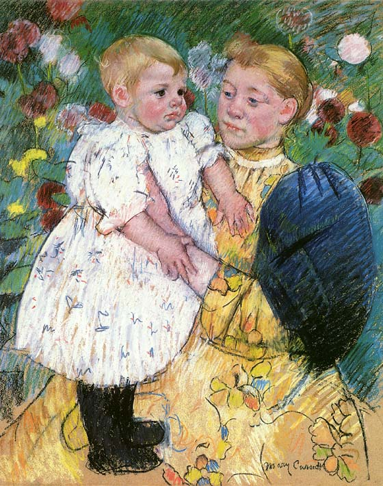 Mary Cassatt In the Garden 1893 stretched canvas art print