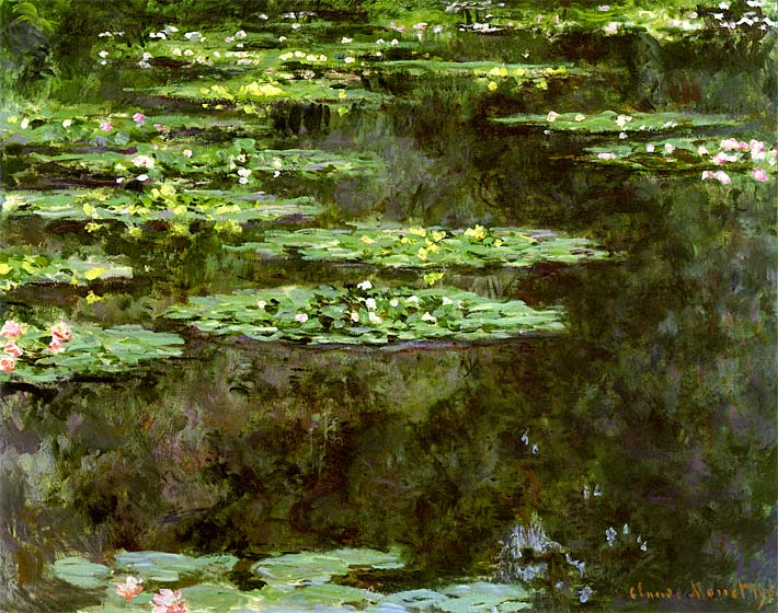 Claude Monet Water-Lilies 1904 (detail) stretched canvas art print