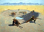 Frederic Remington Fight for the Waterhole