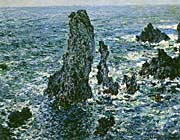 Claude Monet The Pyramids of Port-Coton