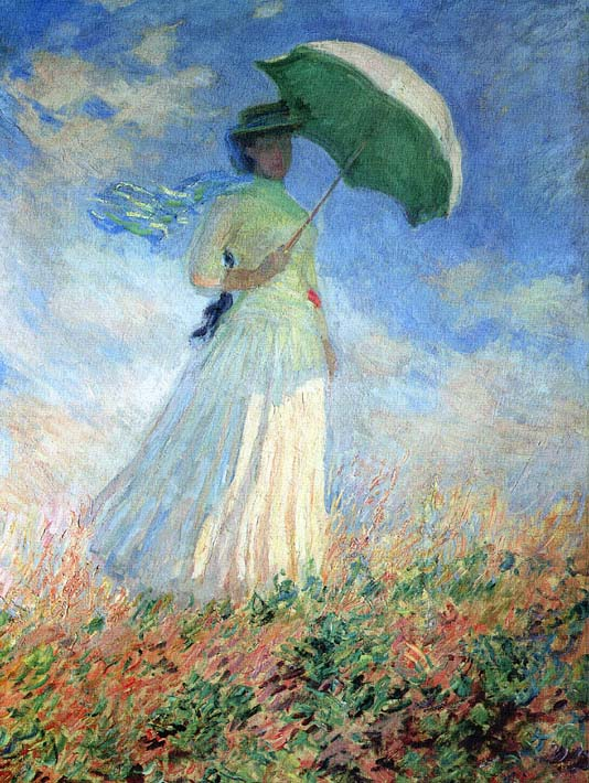 Claude Monet Woman With Umbrella Turned To The Right Prints On