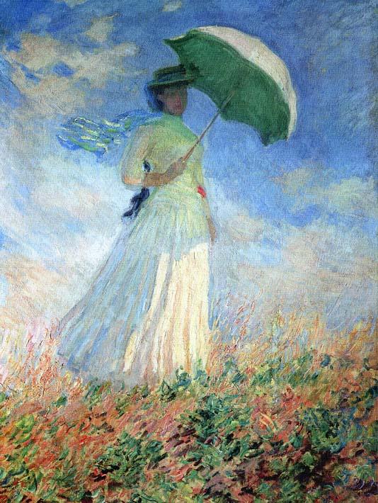 Woman Umbrella Monet Claude Monet Woman With