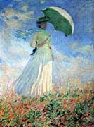 Claude Monet Woman with Umbrella Turned to the Right
