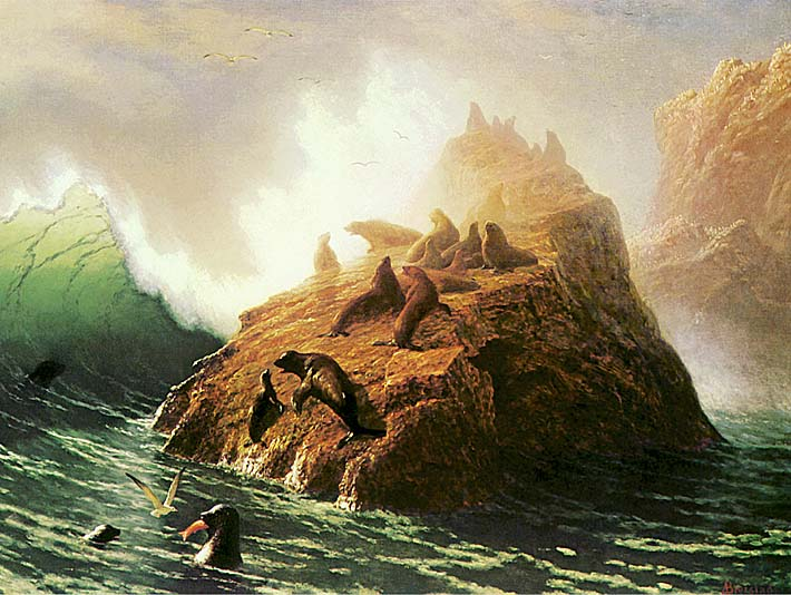 Albert Bierstadt Seal Rock stretched canvas art print