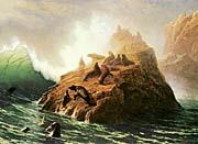Albert Bierstadt Seal Rock canvas prints