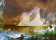Frederic Edwin Church The Icebergs (detail)