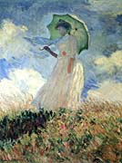 Claude Monet Woman with Umbrella Turned to the Left