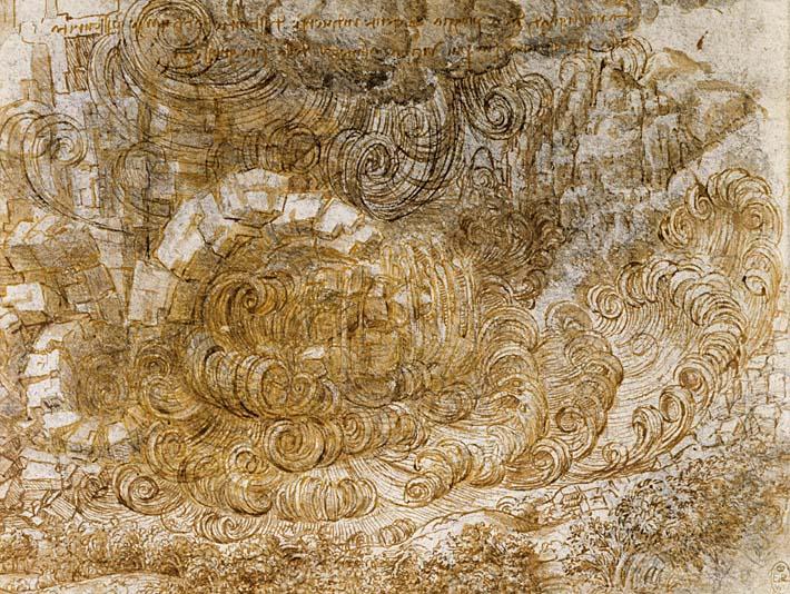 Leonardo Da Vinci A Deluge stretched canvas art print