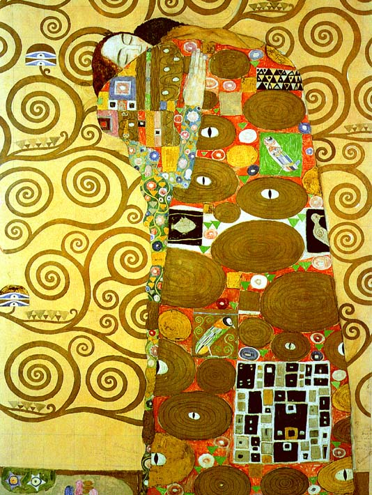 Gustav Klimt Fulfillment (detail) stretched canvas art print