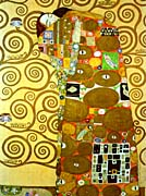 Gustav Klimt Fulfillment (detail)