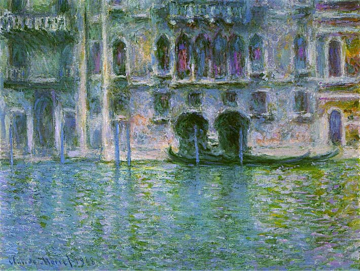 Claude Monet Venice, Palazzo da Mula stretched canvas art print