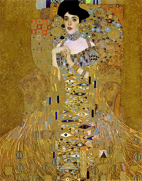 Gustav Klimt Adele Bloch-Bauer I (detail) stretched canvas art print