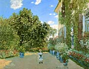 Claude Monet Monets House At Argenteuil canvas prints