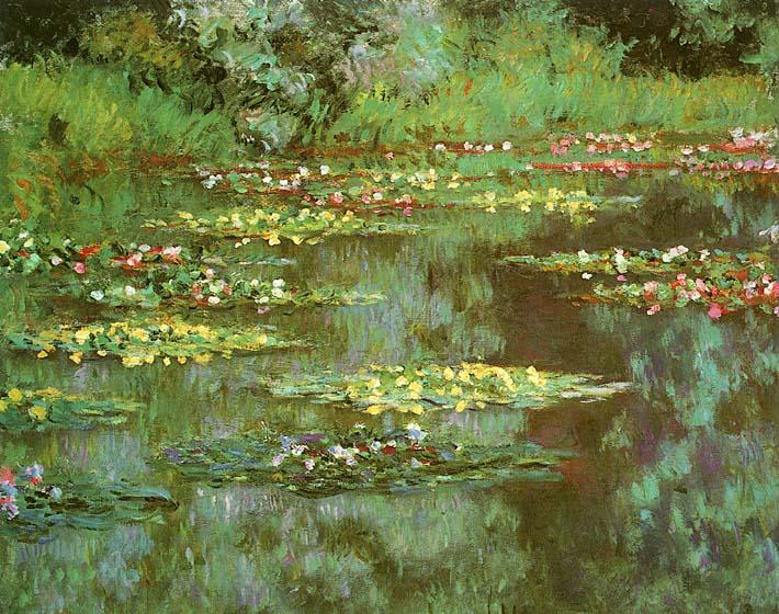 Claude Monet Nympheas 1906 (detail) stretched canvas art print