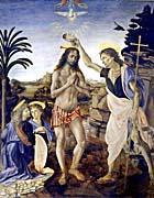 Leonardo Da Vinci Baptism of Christ
