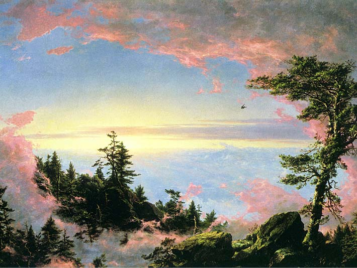 Frederic Edwin Church Above the Clouds at Sunrise stretched canvas art print