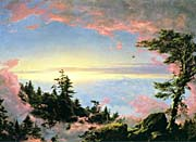 Frederic Edwin Church Above the Clouds at Sunrise